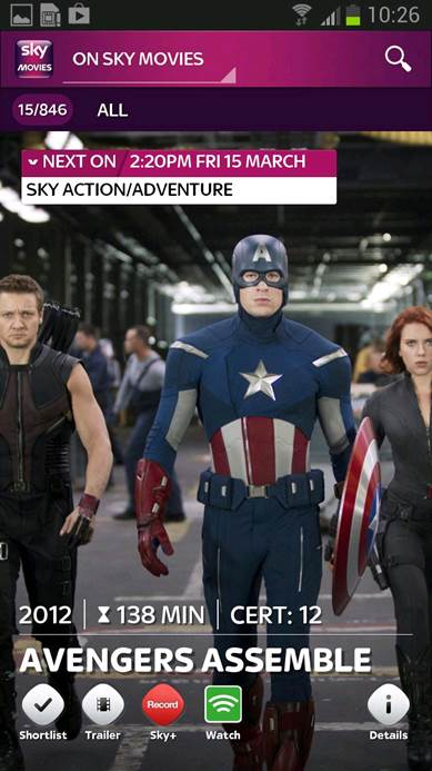 Sky Movies - Enjoy your favorite movies while you're on the go