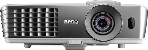 Its short throw means the BenQ is well-suited to occasional use with a temporary screen