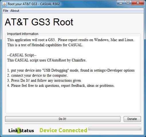 CASUAL is an easy-to-use, one-click rooting solution