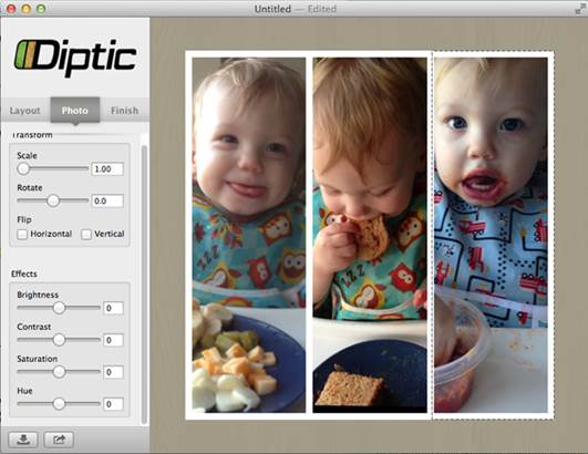 Diptic lets your photos tell a story.