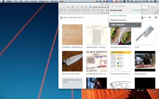 Dropmark combines a web-based interface with a Mac menubar item for quickly collecting & sharing.