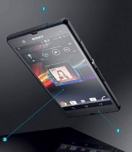 Sony Xperia Z: points of interest