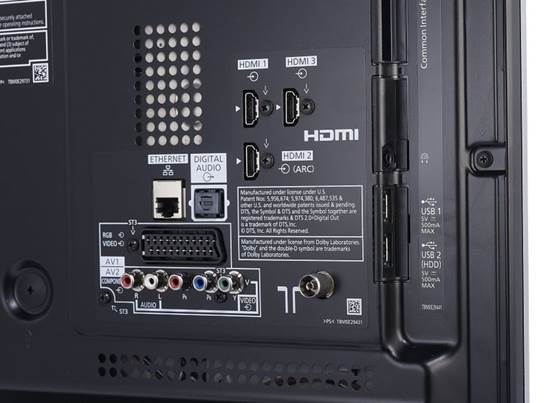 there are lots of connections at the back of the set, including ports for HDMI and optical and phono audio. There are also sockets for component, Scart and Ethernet.
