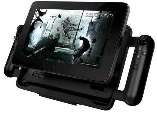 The purpose of the over-sized cradle is to give the Edge the outlook of a mobile game console.