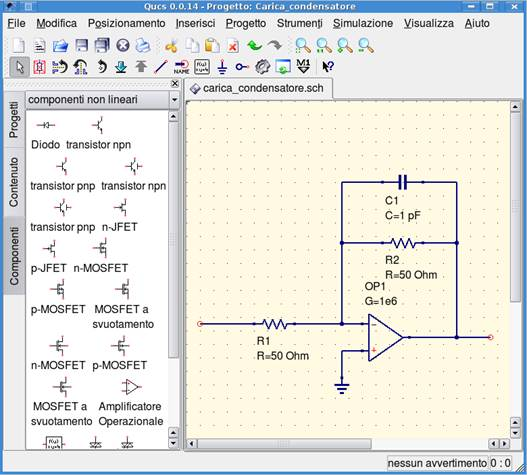 Figure 2: A circuit ready for simulation