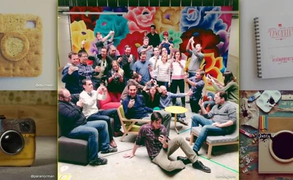 Instagram 100 Million user celebrations were colorful