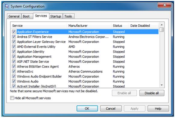 The ancient msconfig app lets you control what starts with Windows