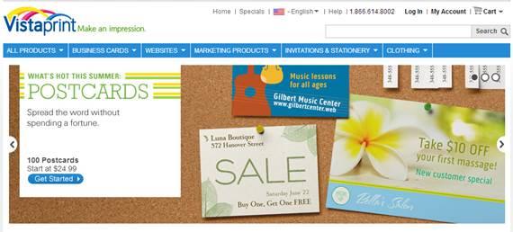 Website Vistaprint