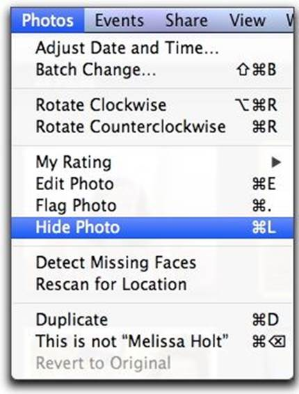 This is a really helpful tool if you want to clean up your iPhoto library without removing photos completely.
