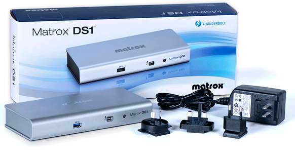 It was the very first Thunderbolt dock, the Matrox DS1 showed promise.