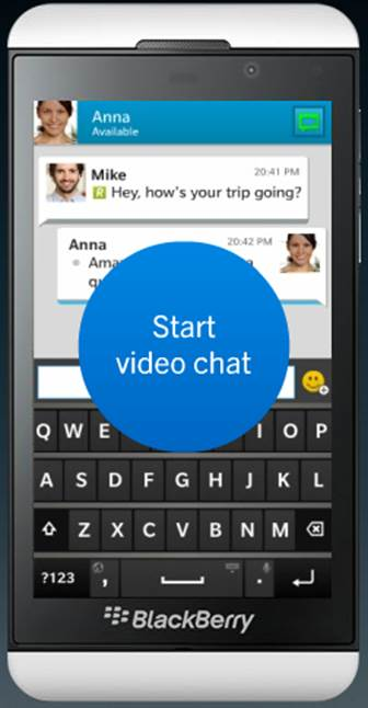 The well-known BBM IM service has received updates from BlackBerry 10 with video chat