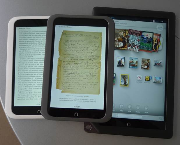 Currently the nook HD and HD+ are around $179.69/$285.39