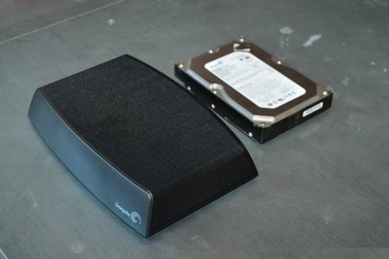 The Seagate Central is just about twice the size of a regular 3.5-inch hard drive.