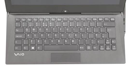 By design, the sliding computers have limited keyboard space - that's how they adapt to the slide-out screen. Sony attempted to reduce this inconvenience by moving the screen a little backward on this model. As a result, you have a larger group of island-style chiclets.