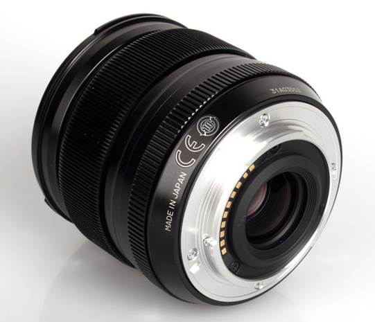 The front of the lens