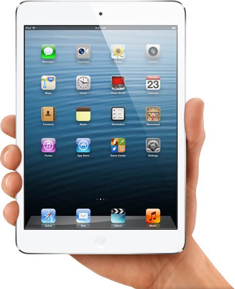 Despite the reduced size, this tablet is still unmistaken-ably an iPad