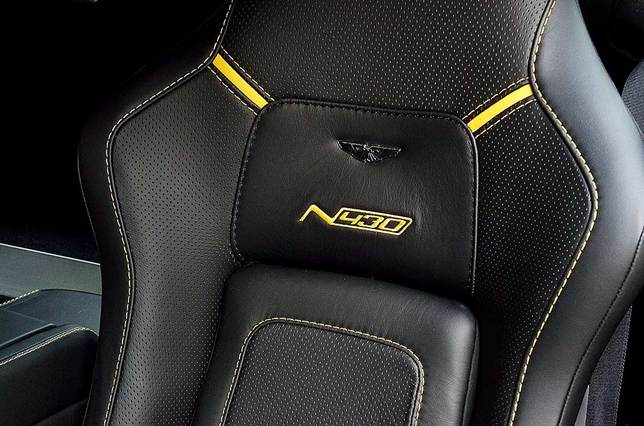 N430 stitching in the leather seats: no mistaking what you're sitting in
