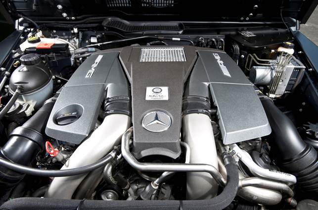 5.5-litre V8 powers the G63 AMG to 130mph