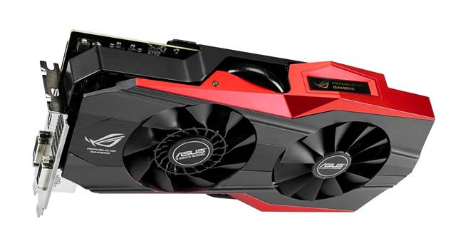 Asus Geforce GTX 780 Ti Matrix Platinum rear view