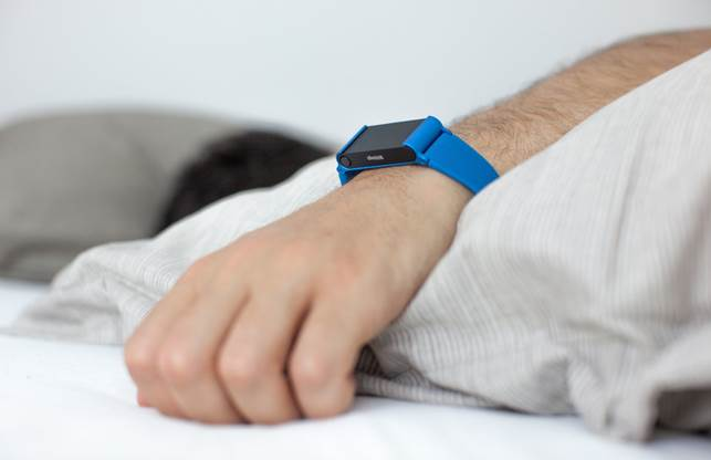 The device can also be set to record your sleep pattern