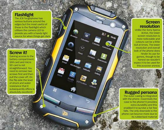 Description Jcb Toughphone Pro Smart