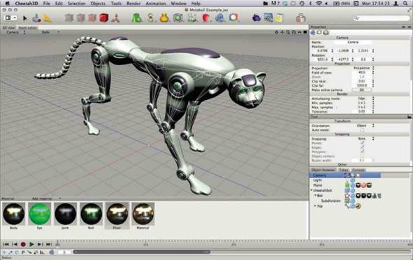 Description: Skeleton crew: Cheetah3D 6 implements a 'bones' system for creating joined armatures for character animation. This system will be extensively overhauled in the few releases