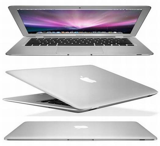 The MacBook Air is an entirely new line of laptop computers. The biggest change is to the battery life.