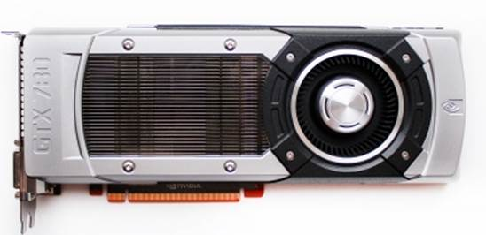 The GeForce GTX 780's front