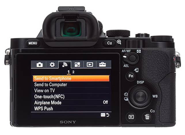 Description: Sony Alpha 7S back view