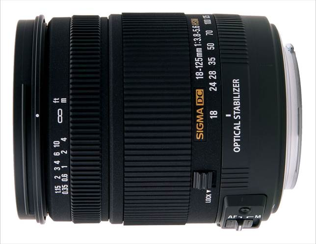 Description: Sigma 18-125mm f/3.8-5.6 DC OS HSM