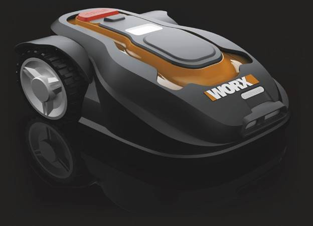 Description: The WORX Landroid is a battery-powered robotic lawnmower, much like the indoor Roomba (though we don't recommend letting kittens ride this bad boy)