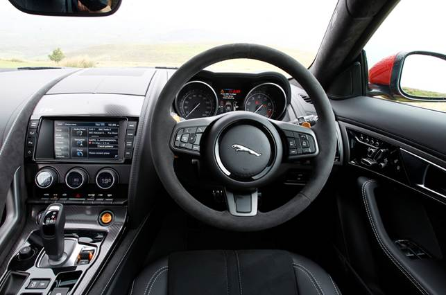 The interior is the same as the convertible; it's a comfortable and beguiling place to sit