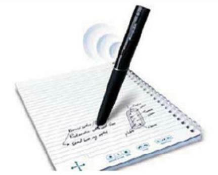 Description: The Echo Smartpen simultaneously records sound and captures notes