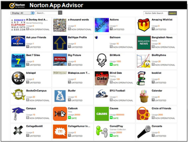 Description: Norton App Advisor