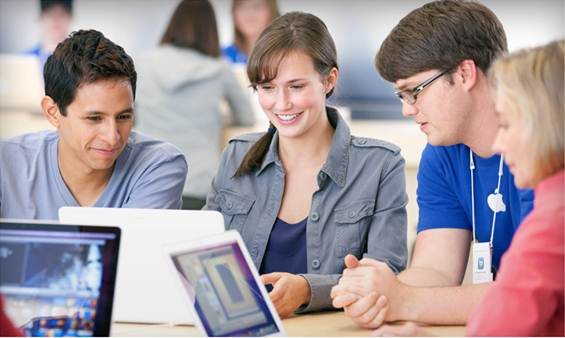 Description: Learning something new by taking free workshops at an Apple Store