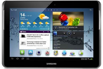 Description: Samsung takes aim at the iPad with the P10 tablet