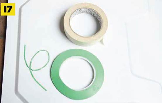 Description: Description: Description: Apply masking tape and line tape