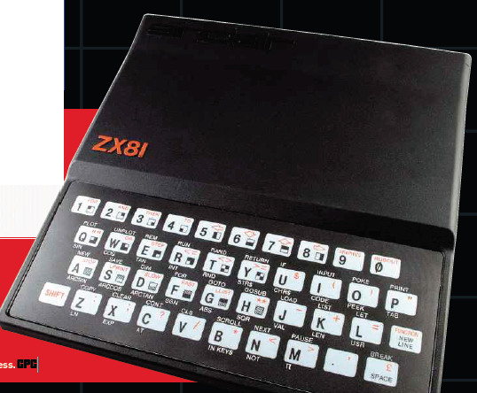 Description: Description: Description: With power connected, and a composite video cable running to a classic CRTTV, the ZX81 flickers into life some years after the kit was placed in its box.