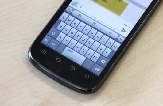 Description: Description: Description: ZTE wasn't able to resist customisations altogether, and included its TouchPal Curve keyboard and its Swype like system.