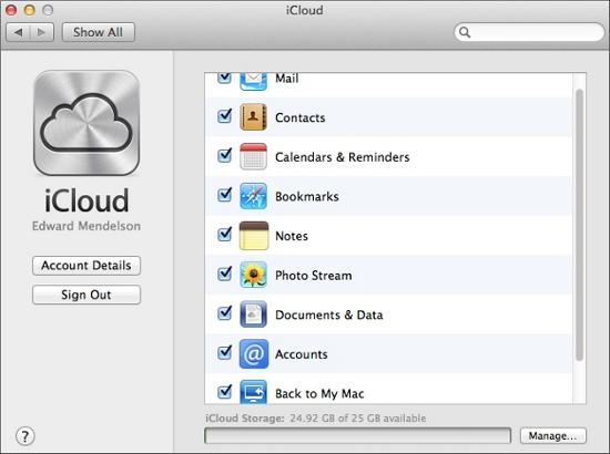 Description: iCloud