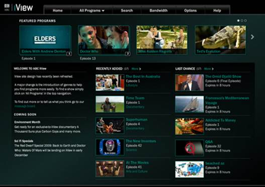Description: The BBC has also released an Australian subscription TV app for iGadgets with some free content.