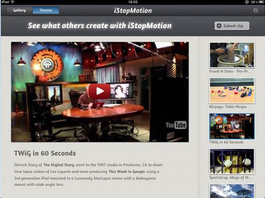 Description: iStopMotion 3 works with a number of cameras, from webcams, iSights and camcorders to DSLRs