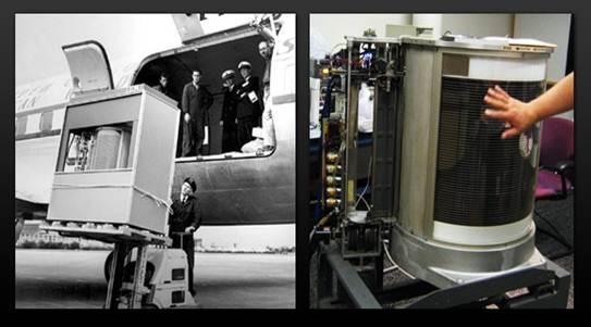 Description: The first hard disk drive, IBM Model 350.