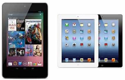 Description: Although its display is not as hi-end as new iPad's Retina screen, Nexus 7 easily surpasses iPad 2's display.