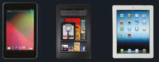 Description: Nexus 7, Amazon Kindle Fire and Apple iPad