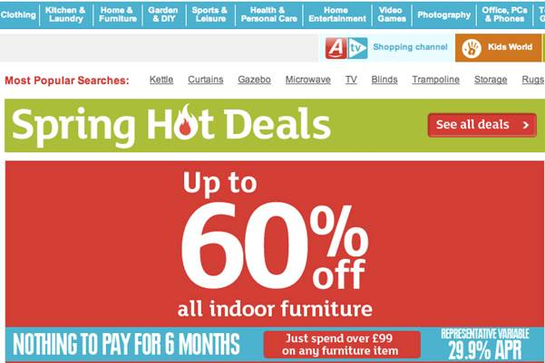 Check the Clearance or Outlet Sections for Bargains