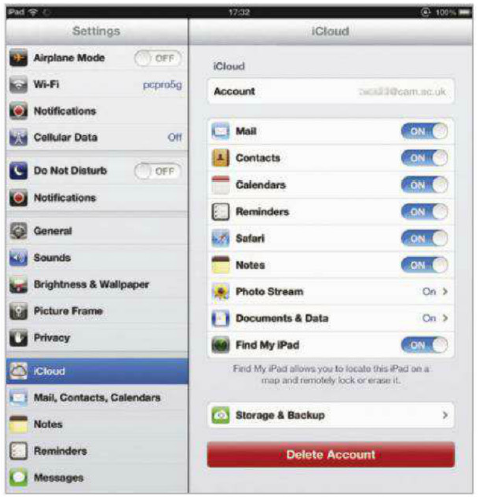 Apple's ICloud service provides automatic backups for iOS devices