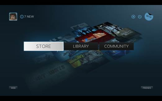 After a brief intro animation, you'll be in Steam's Big Picture Mode.