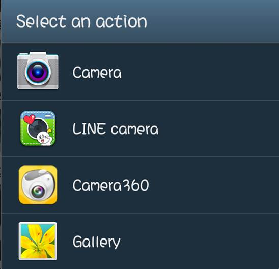 2. Select an action