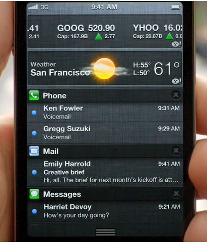 Description: You can open Notification Center by clicking its icon in the menu bar
